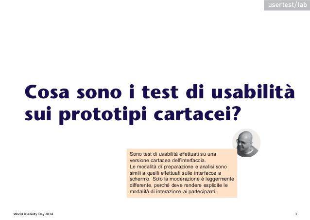 Scarica le slide di Test di usabilità su prototipi cartacei