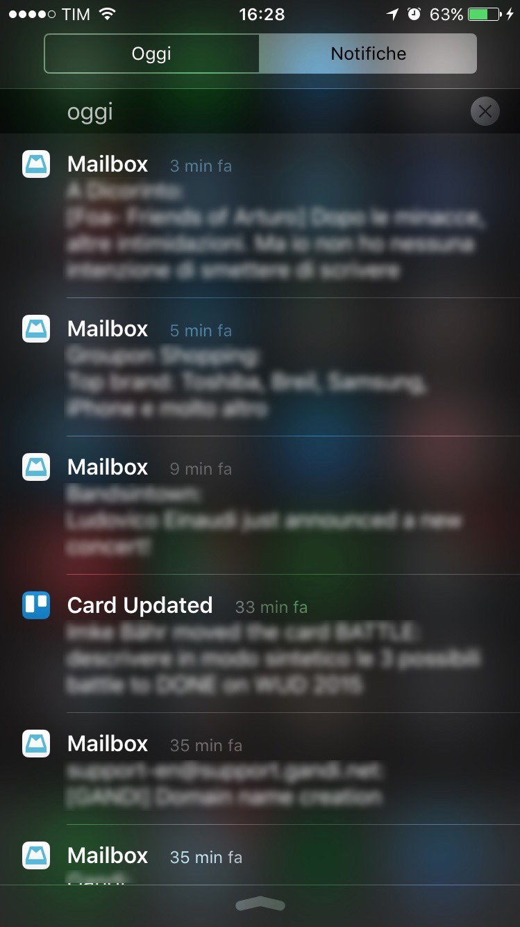 Notifiche, finalmente raggruppate per data e non per App.