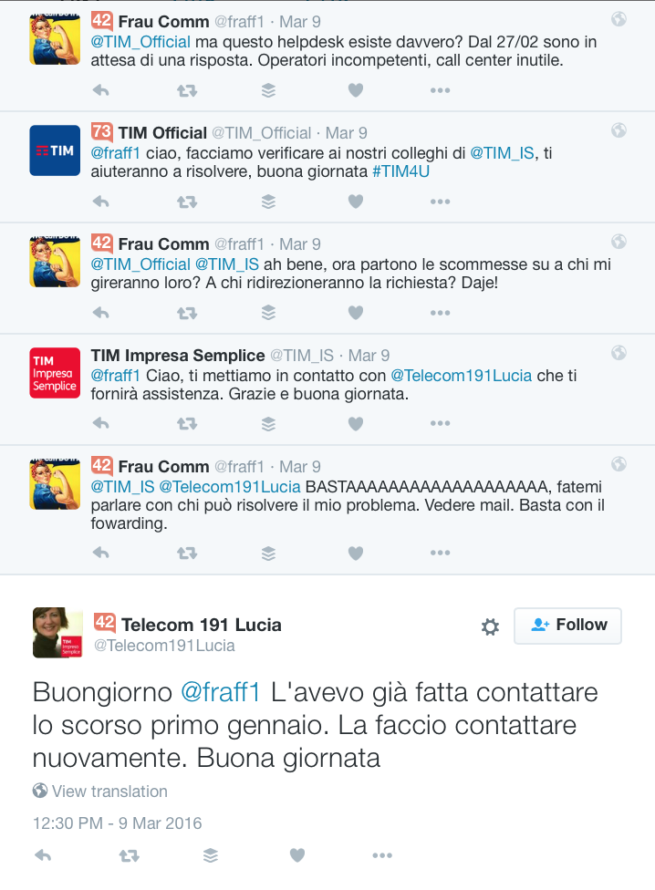 TIM_IS, TIM Impresa Semplice, Data Driven UX