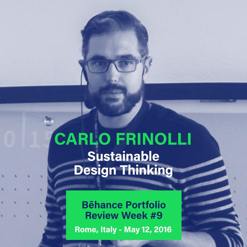 Carlo frinolli, Behance Portfolio Review Roma, nois3 experience design roma