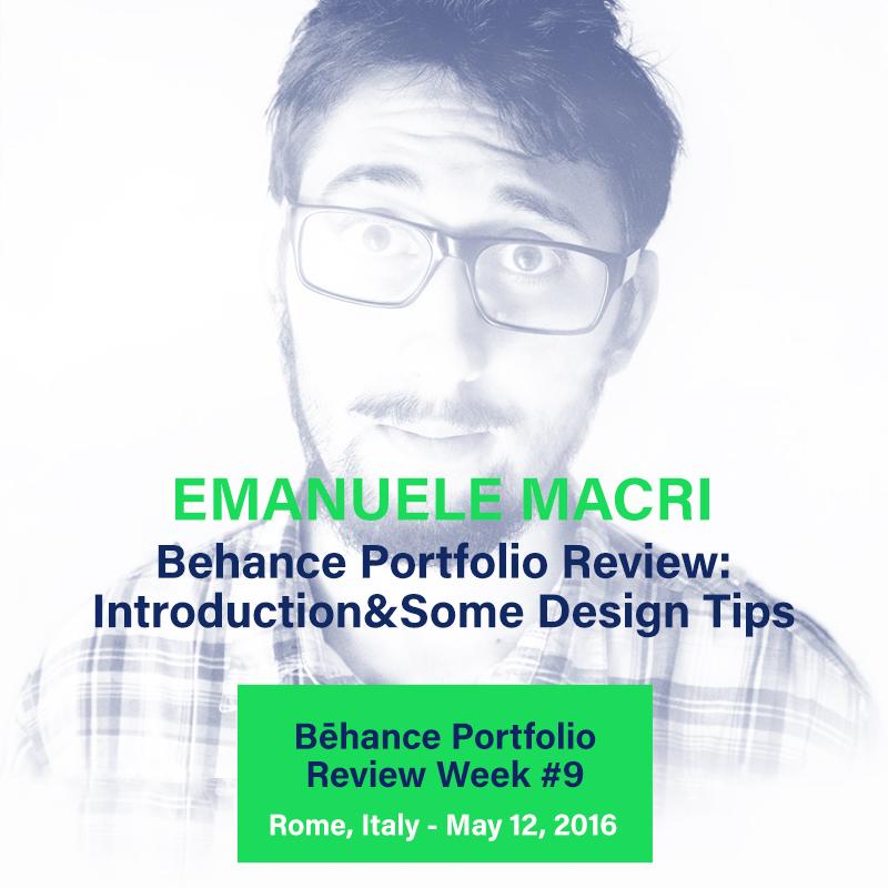 Behance Portfolio Review Roma Emanuele Macri